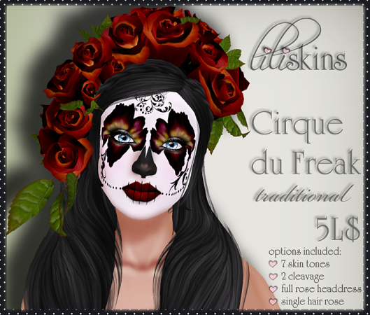 Liliskins Ad - Cirque du Freak Traditional